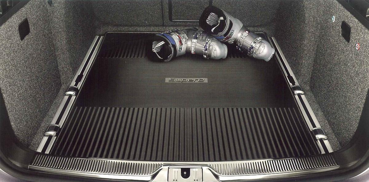 Gumový koberec zavazadlového prostoru - Superb II Combi