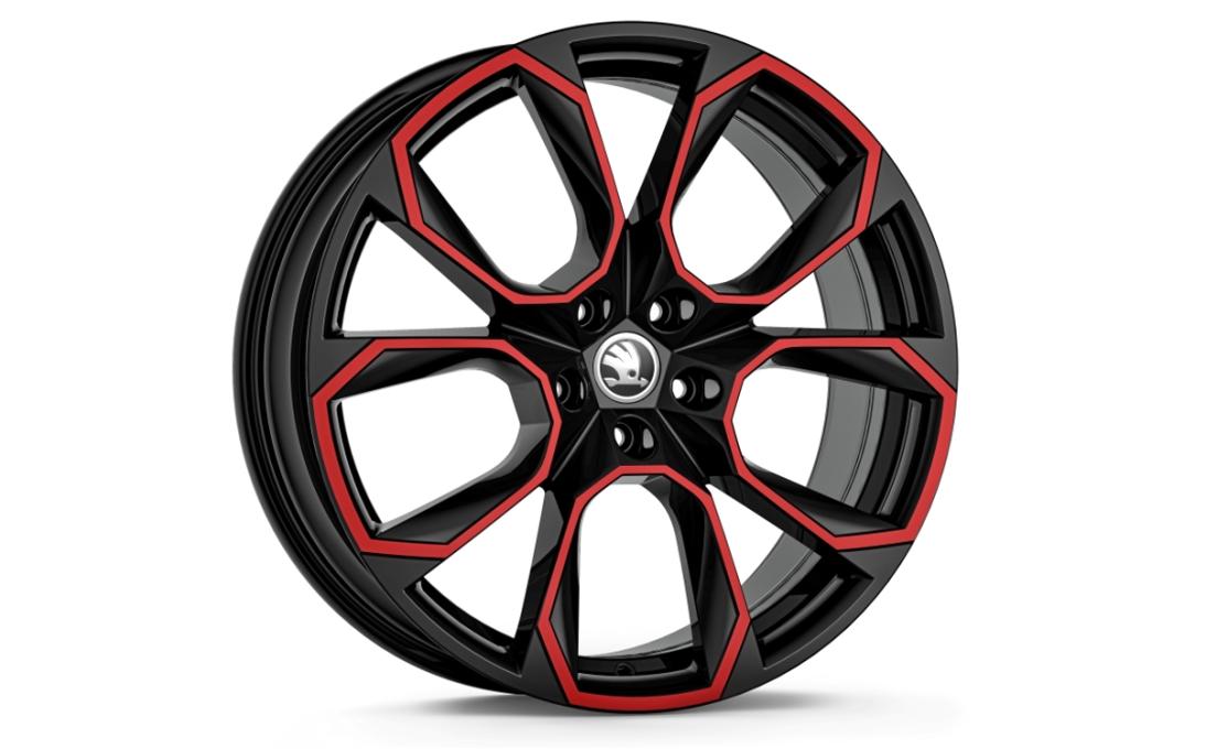 """20"""" alu kolo Xtreme - černá s červenou"""
