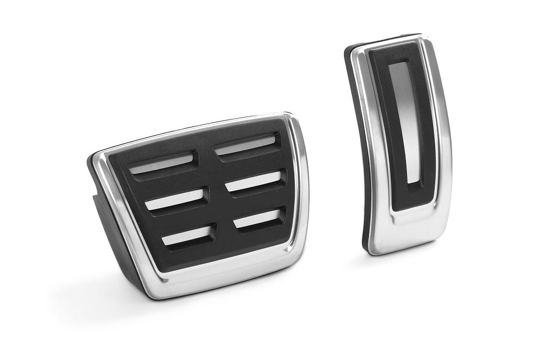 Kryty pedálů z ušlechtilé oceli - více modelů automat