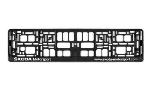 Náhled Držák poznávací značky Škoda Motorsport