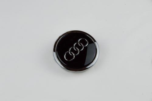 Náhled Ozdobný střed kola - černý lesklý AUDI