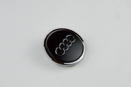 Náhled Ozdobný střed kola - černý matný AUDI